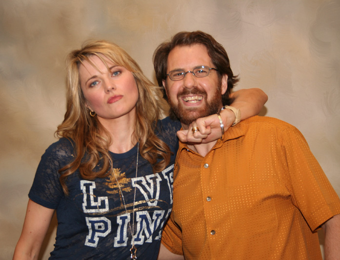 A note about this photo: Lucy Lawless (Xena) was a very good sport when I asked her to look 'mean' (this was from a charity event at the hospital).  After Alison took the picture, Lucy commented that she looked more bored than angry, as if 'oh, it's just Jim again.'  Very funny, gracious person.  Thanks, Lucy!